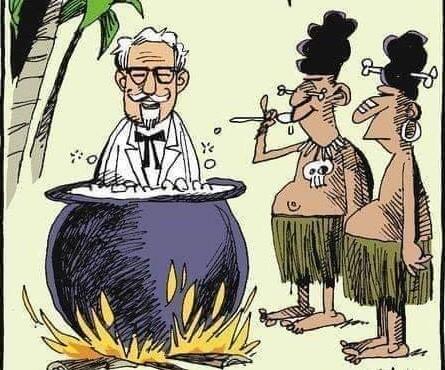 Simpatica rappresentazione della cannibalizzazione !