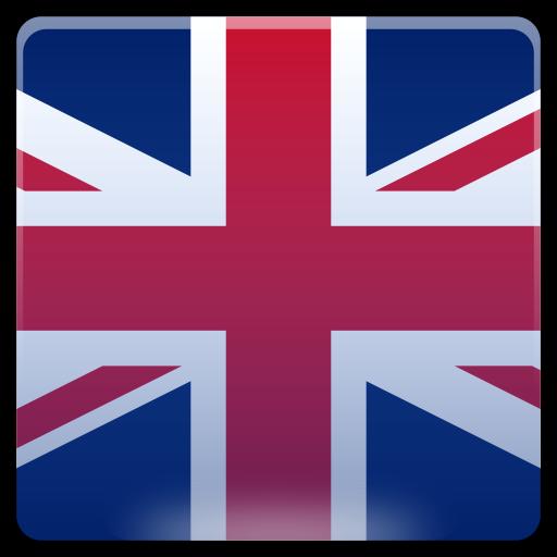 Icona bandiera per la lingua Inglese