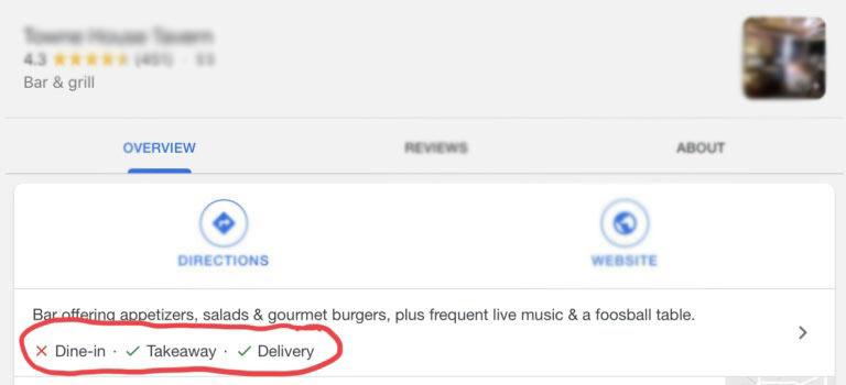 Esempio degli aggiornamenti applicati ad una scheda Google my Business