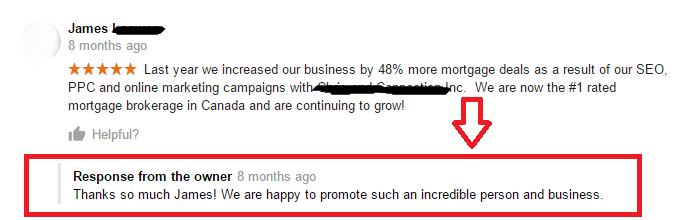Local-SEO-Google-my-business-Recensione-positiva-con-ringraziamento