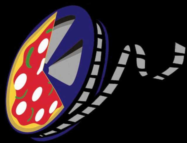 Pizza alimento e pizza cinematografica, ossia la bobina su cui veniva avvolta la pellicola